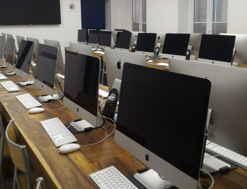 A computer room equipped with Mac for the autumn of 2018