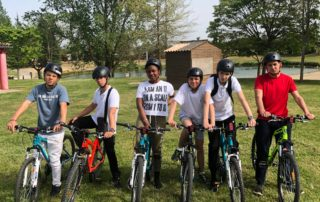 Velo Cours stage de vacances paques tersac internat college lycee sports aquitaine france