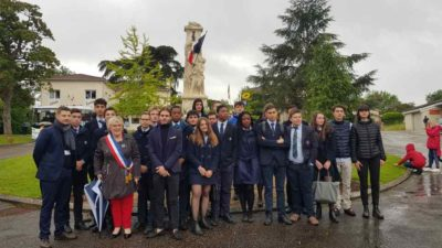 Commemoration de l armistice a Tersac Internat college lycee specialise sports